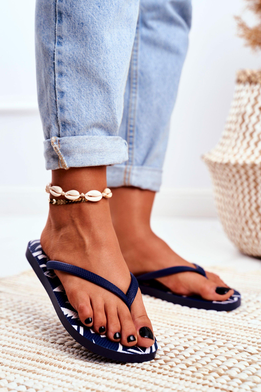 Rubber Flip-flops Lu Boo Navy Blue