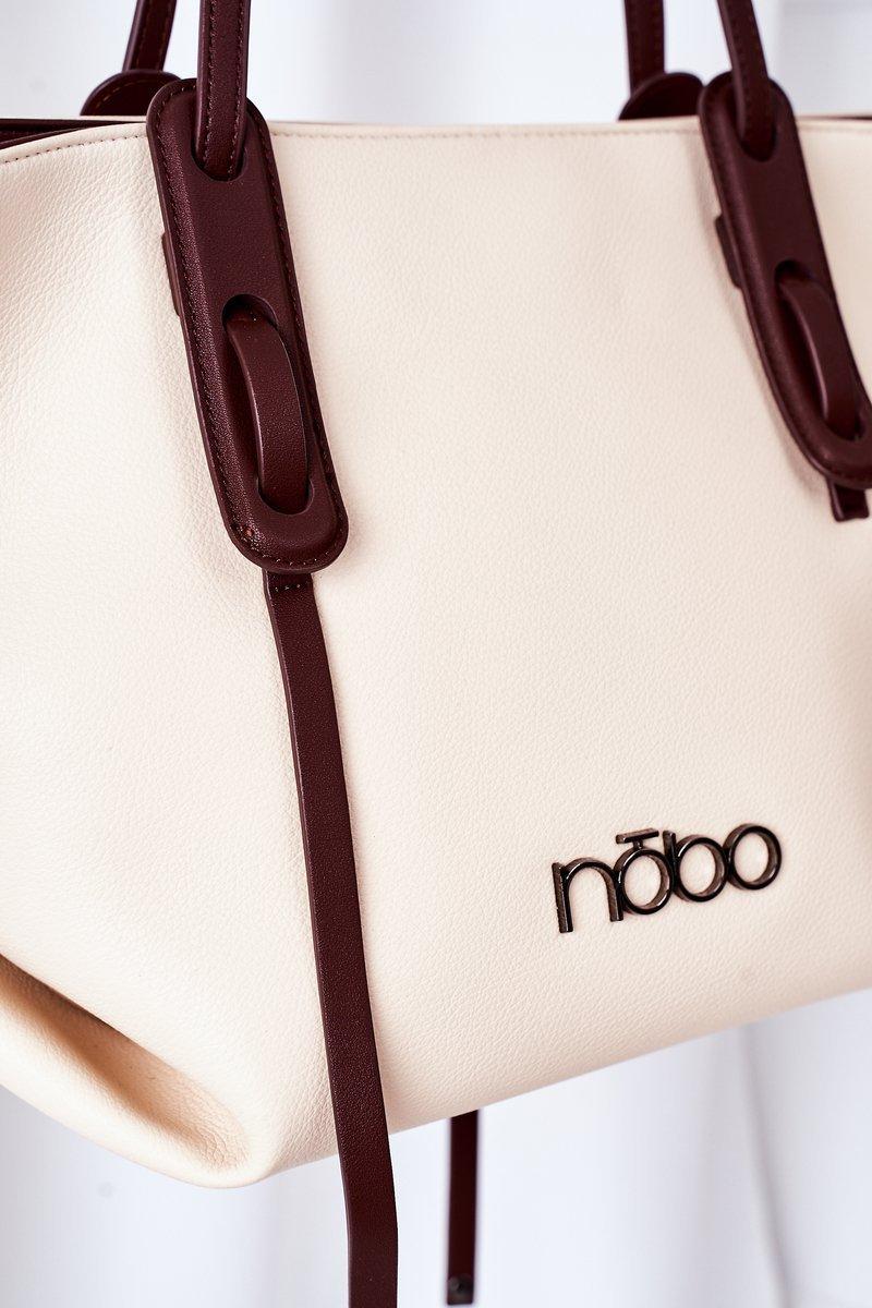 Shopper Shoulder Bag NOBO K3180 Light Beige