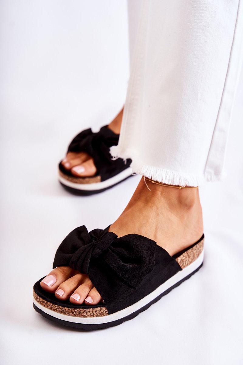 Slippers On A Platform Black So Comfy