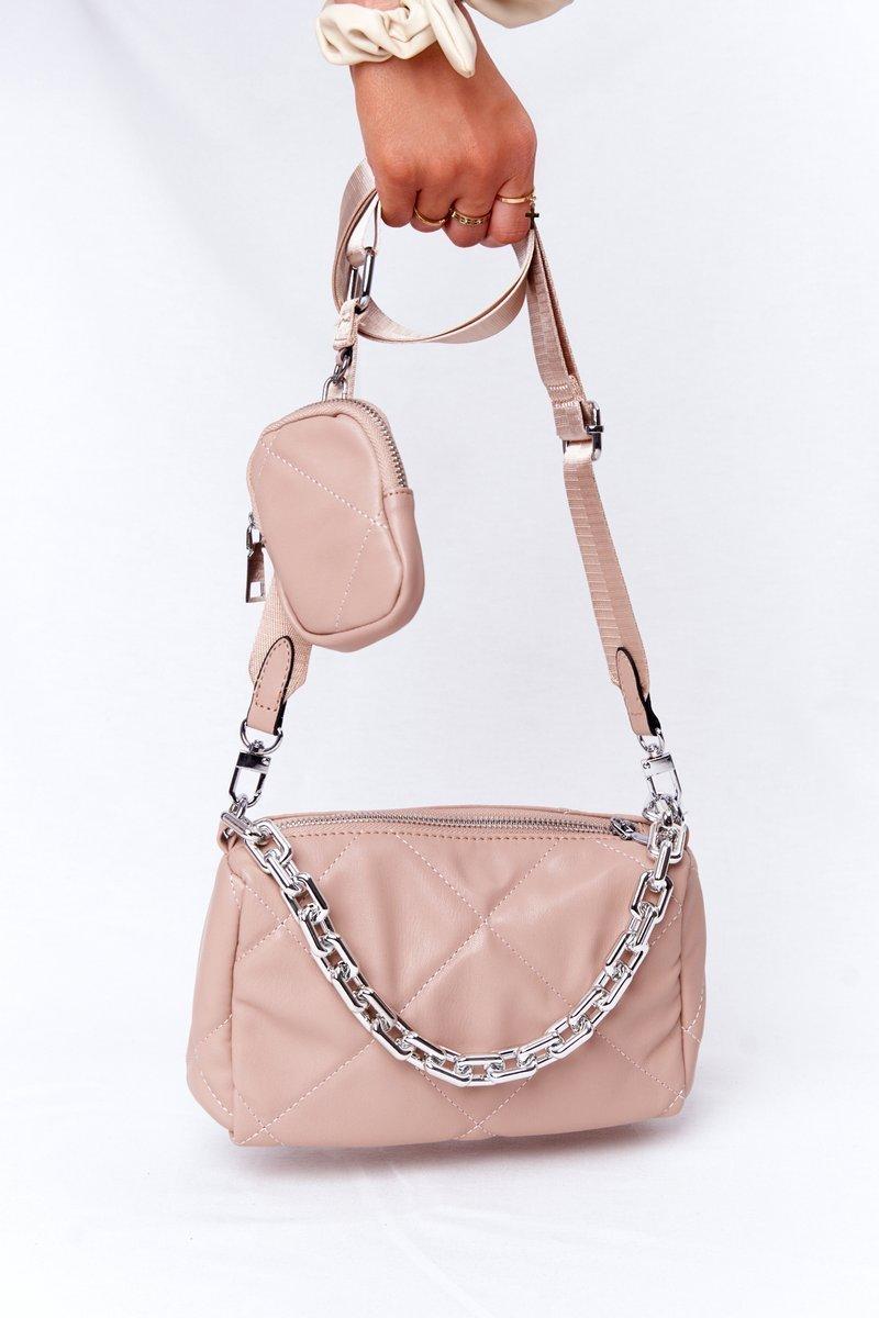 Small Shoulder Bag With A Sachet Barcelona Nude