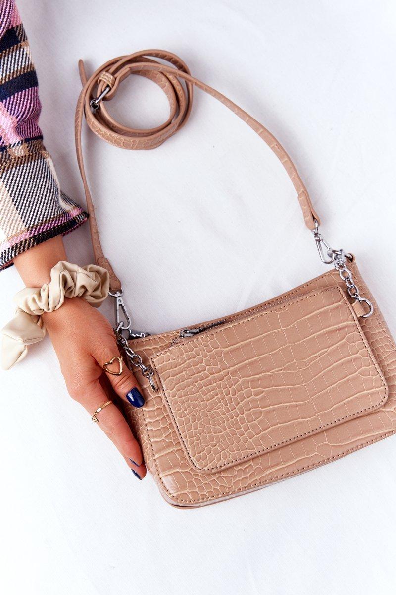 Small Shoulder Bag With A Sachet Paris Beige