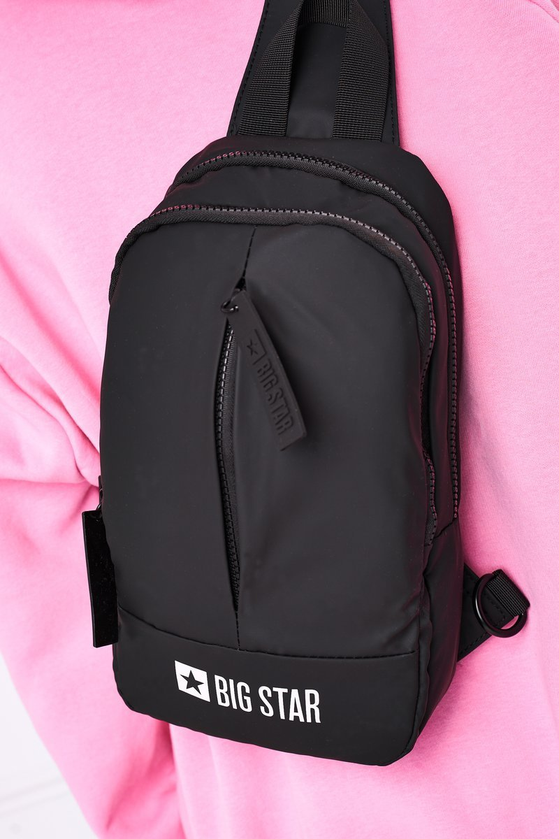 Small Sports Crossbody Backpack Big Star HH574108 Black