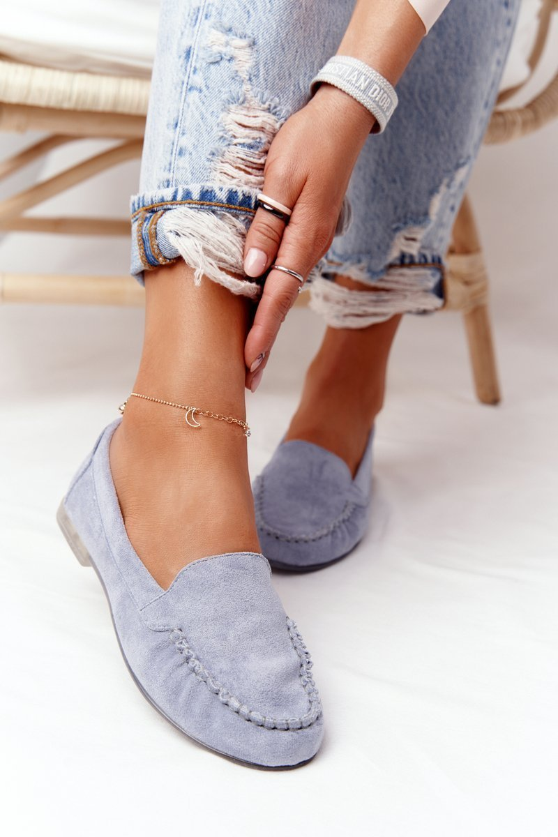 Suede Loafers Sergio Leone MK722 Blue