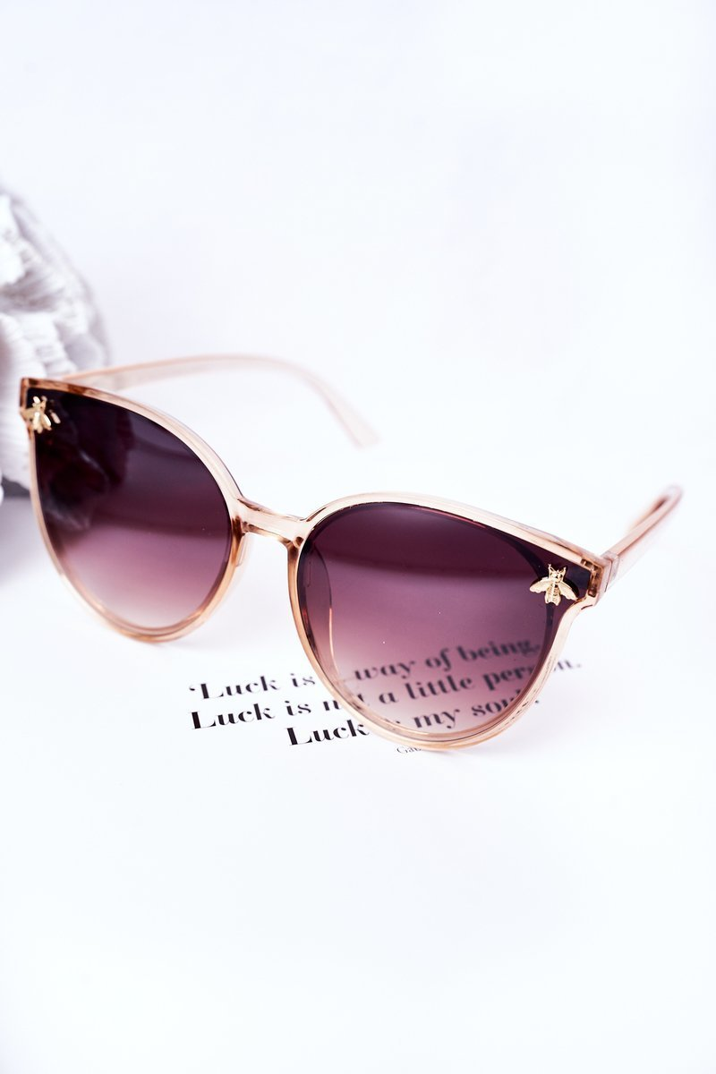 Sunglasses With A Fly Beige Ombre