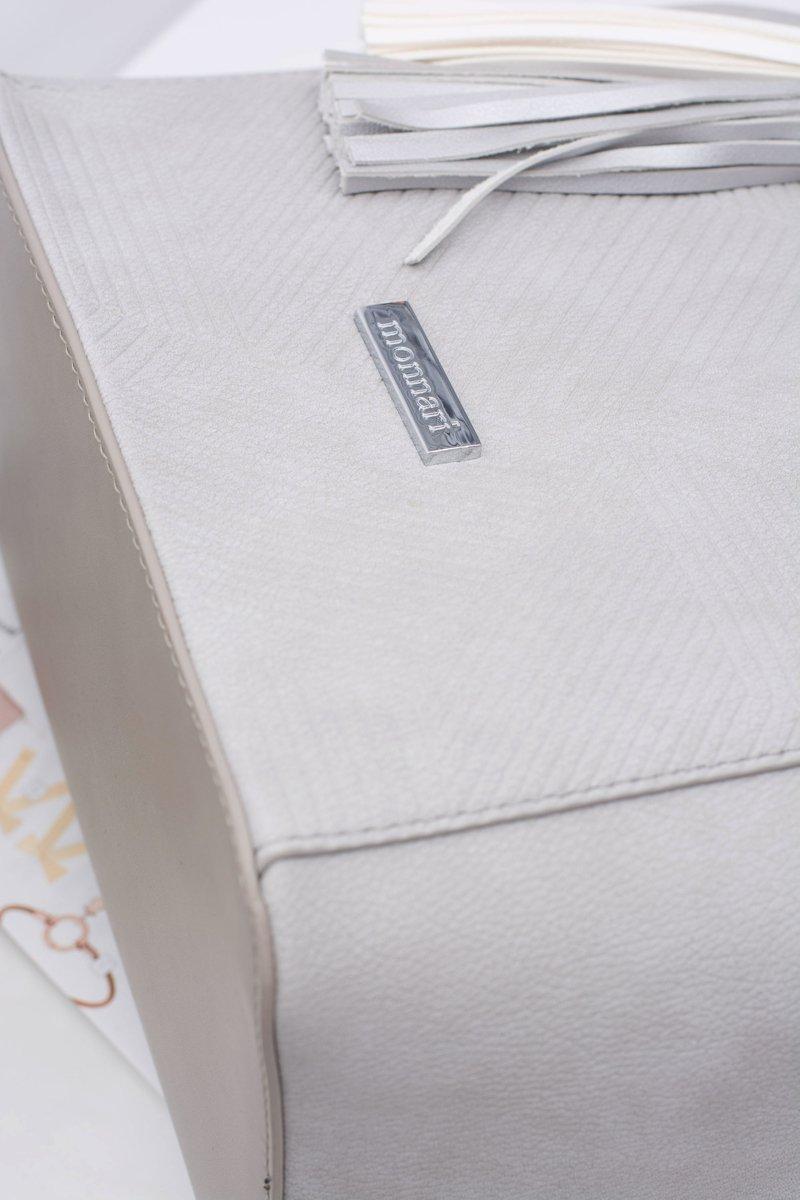 Women Gray Bag Shopper Monnari Sack