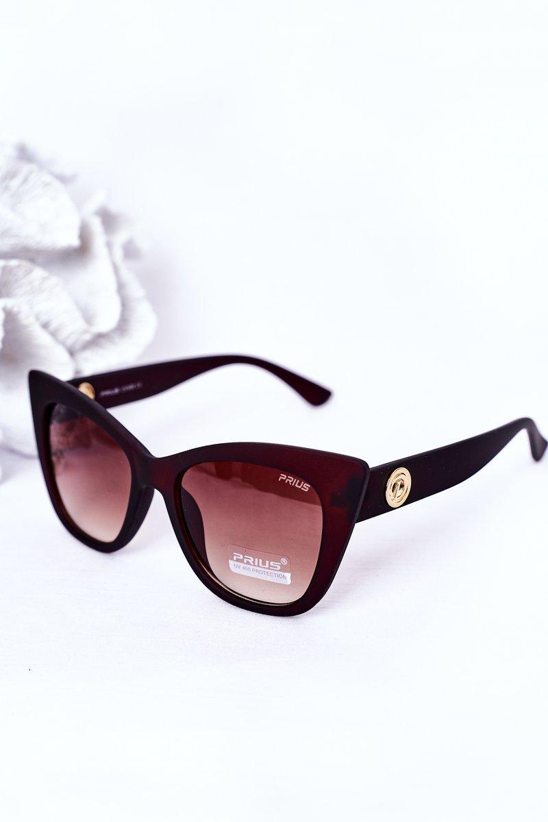 Women's Cat Eye Matt Sunglasses Brown Ombre