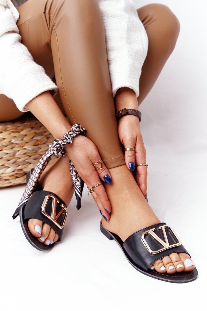 Women's Classic Slippers Black Vicky