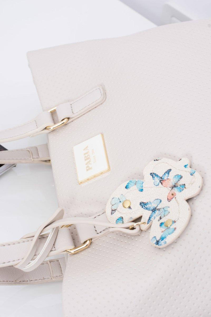 Women's Handbag Beige Shopper Bag for Hand