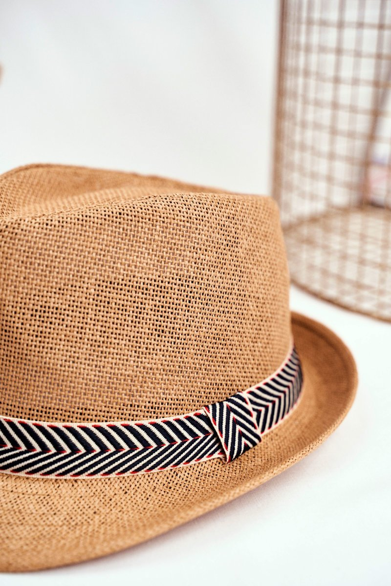Women's Hat Fedora BRUNO ROSSI Camel