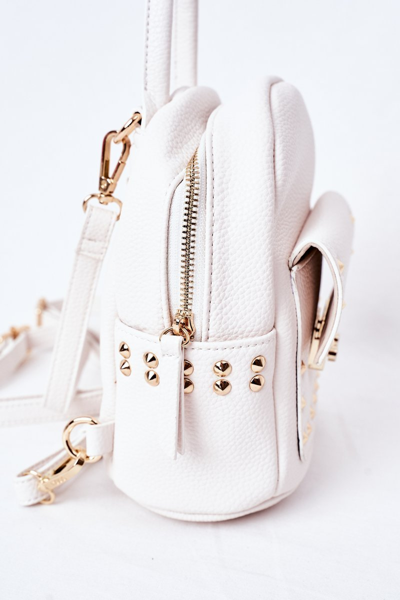 Women's Leather Backpack NOBO K4110 White