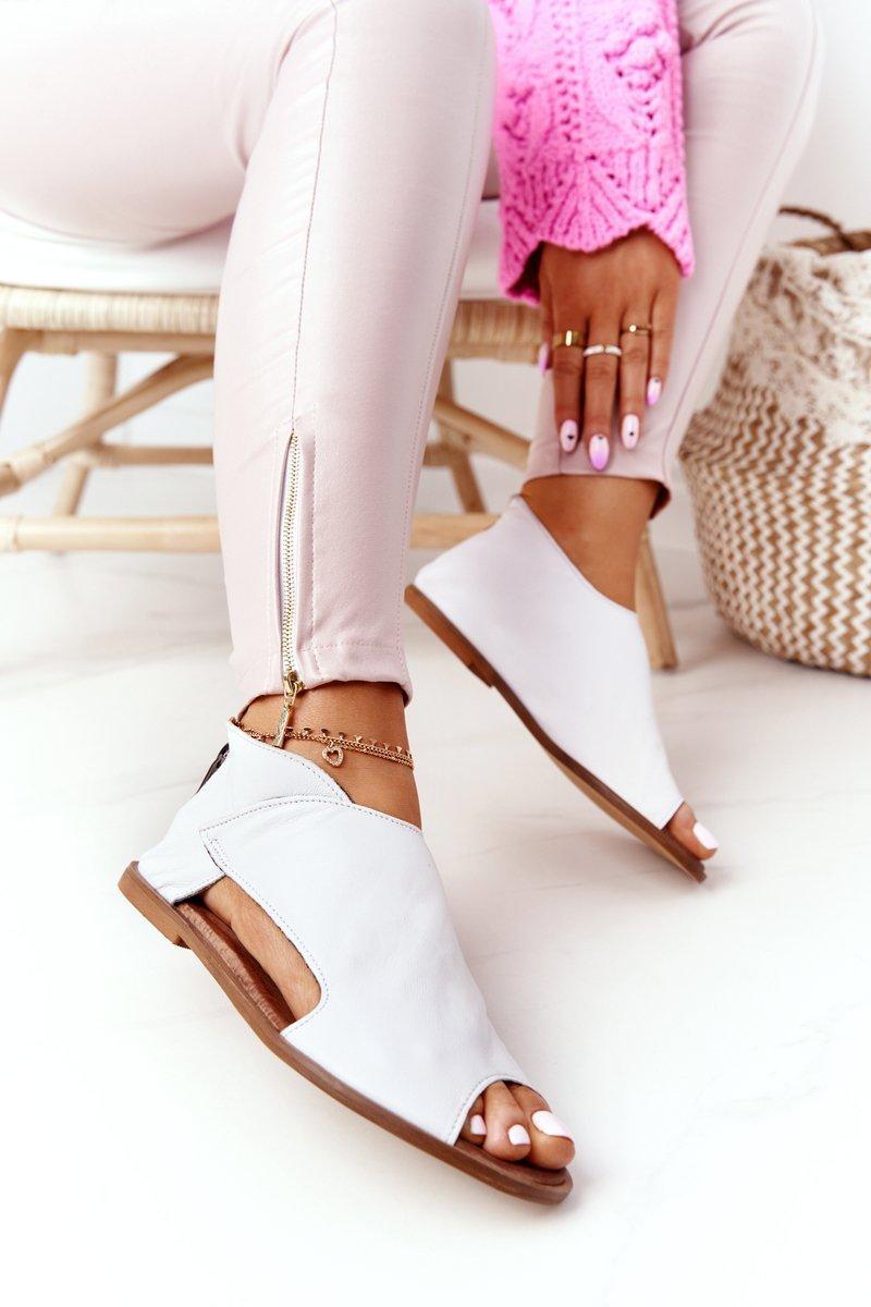 Women's Leather Sandals Nicole 2622 White
