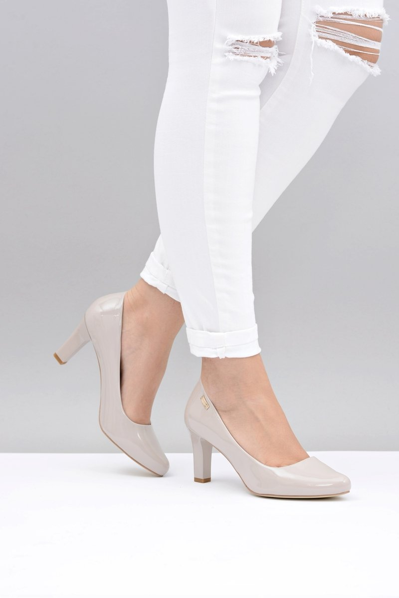 Women's Pumps Sergio Leone Light Grey Varnished Orsola