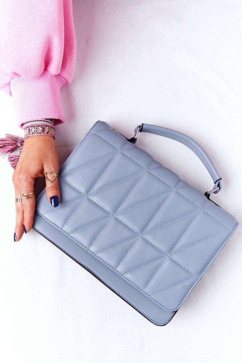 Women's Quilted Messenger Bag Monaco Light Blue