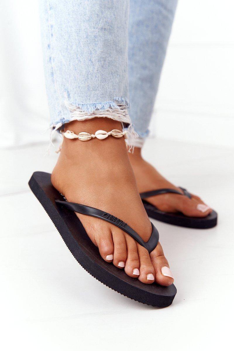 Women's Sliders Flip-Flops Big Star FF274A309 Black