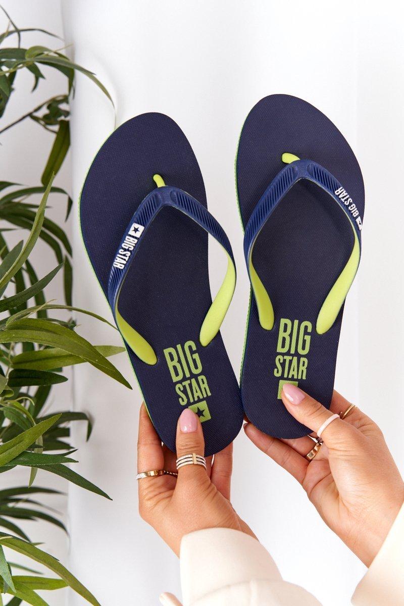 Women's Sliders Flip-Flops Big Star FF274A312 Navy