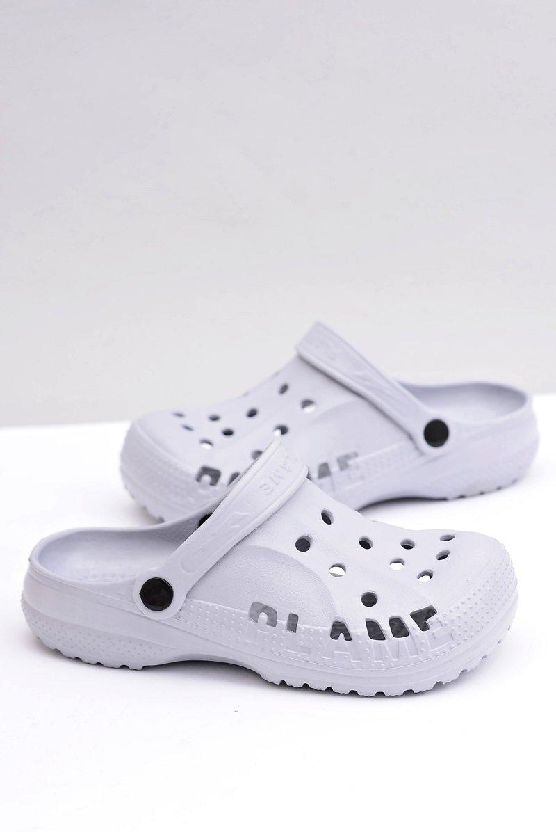 Women's Slides Crocs Grey Foam EVA