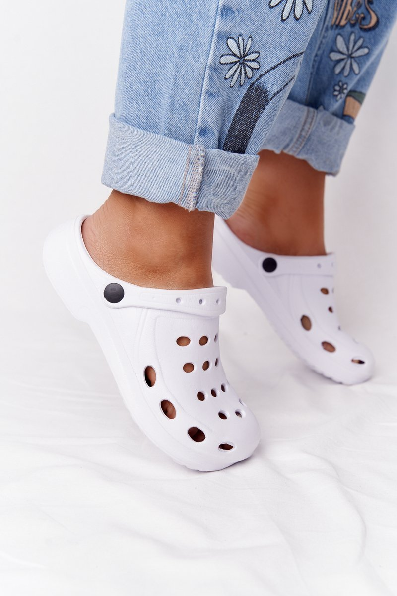 Women's Slides Foam White Crocs EVA
