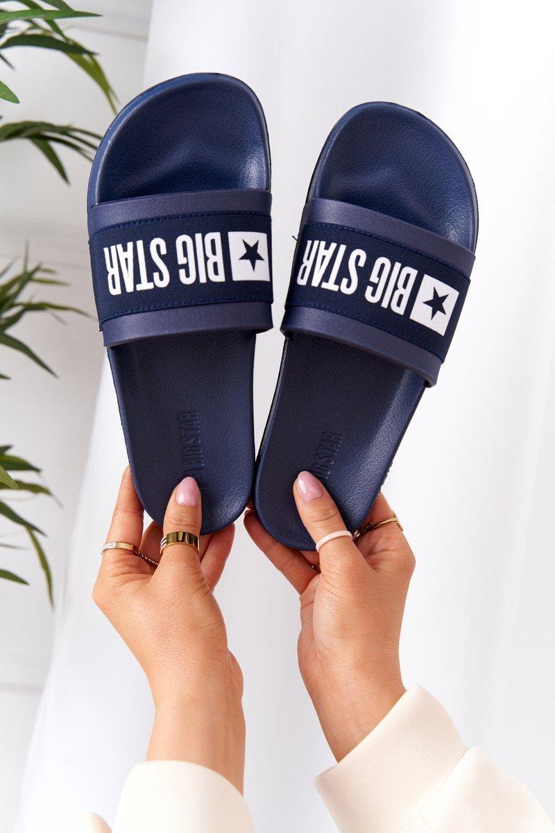 Women's Slippers Big Star HH274A015 Navy
