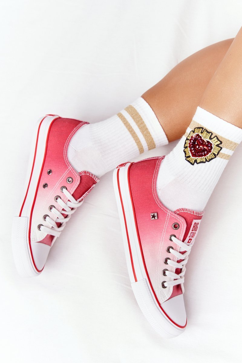 Women's Sneakers BIG STAR HH274130 Ombre Red
