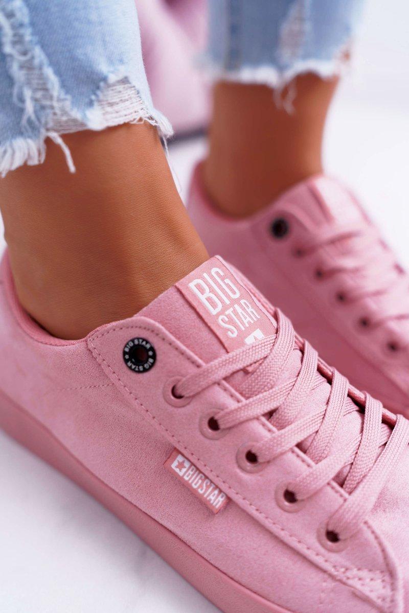 Women's Sneakers Big Star Suede Pink EE274047