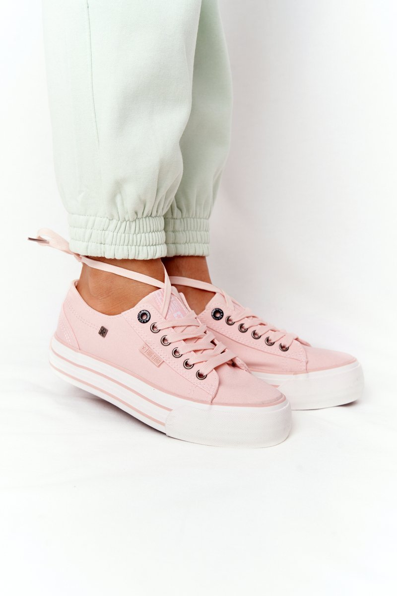 Women's Sneakers On A Platform BIG STAR HH274058 Pink