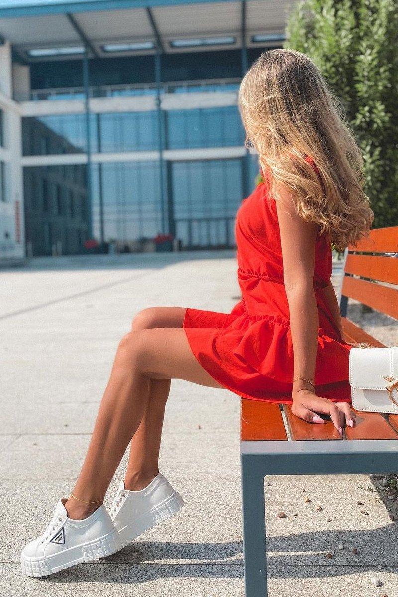Women's Sneakers On A Platform White Big City Life