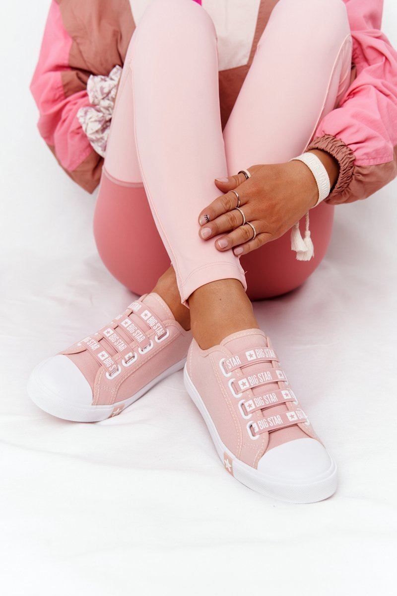 Women's Sneakers With Drawstring BIG STAR HH274096 Pink