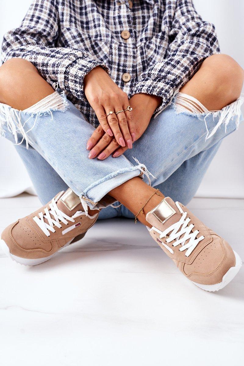 Women's Sport Shoes Sneakers Beige Friday
