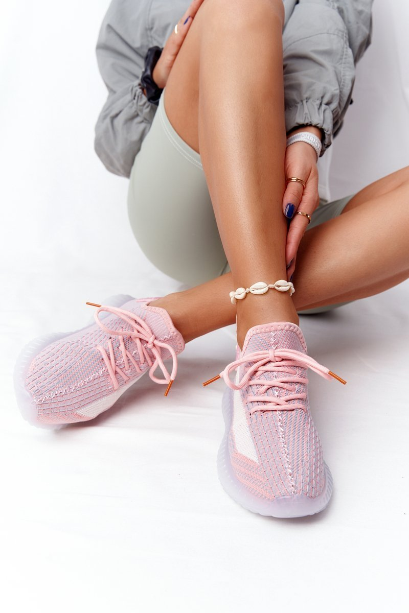 Women's Sports Shoes On A Rubber Sole Pink Freestyler