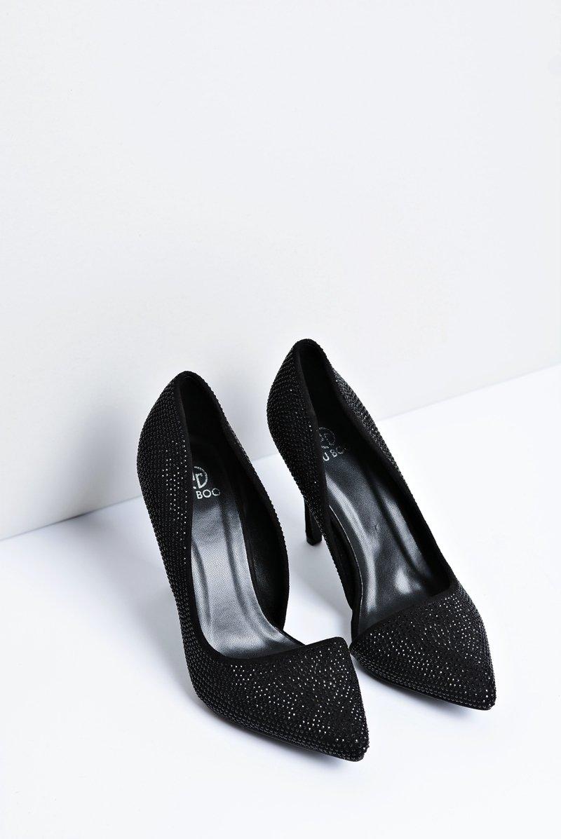 Women's Stilettos Black Asymetrical Santee
