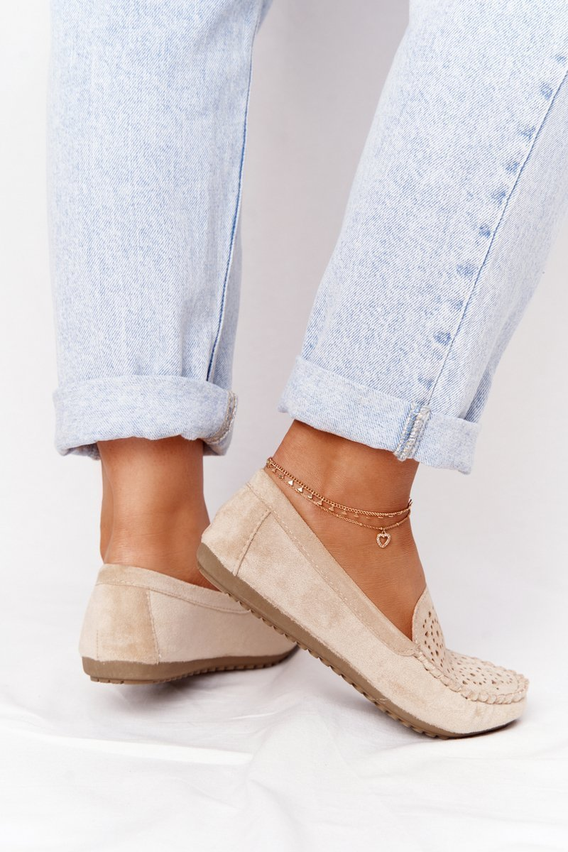 Women's Suede Loafers Beige Molly