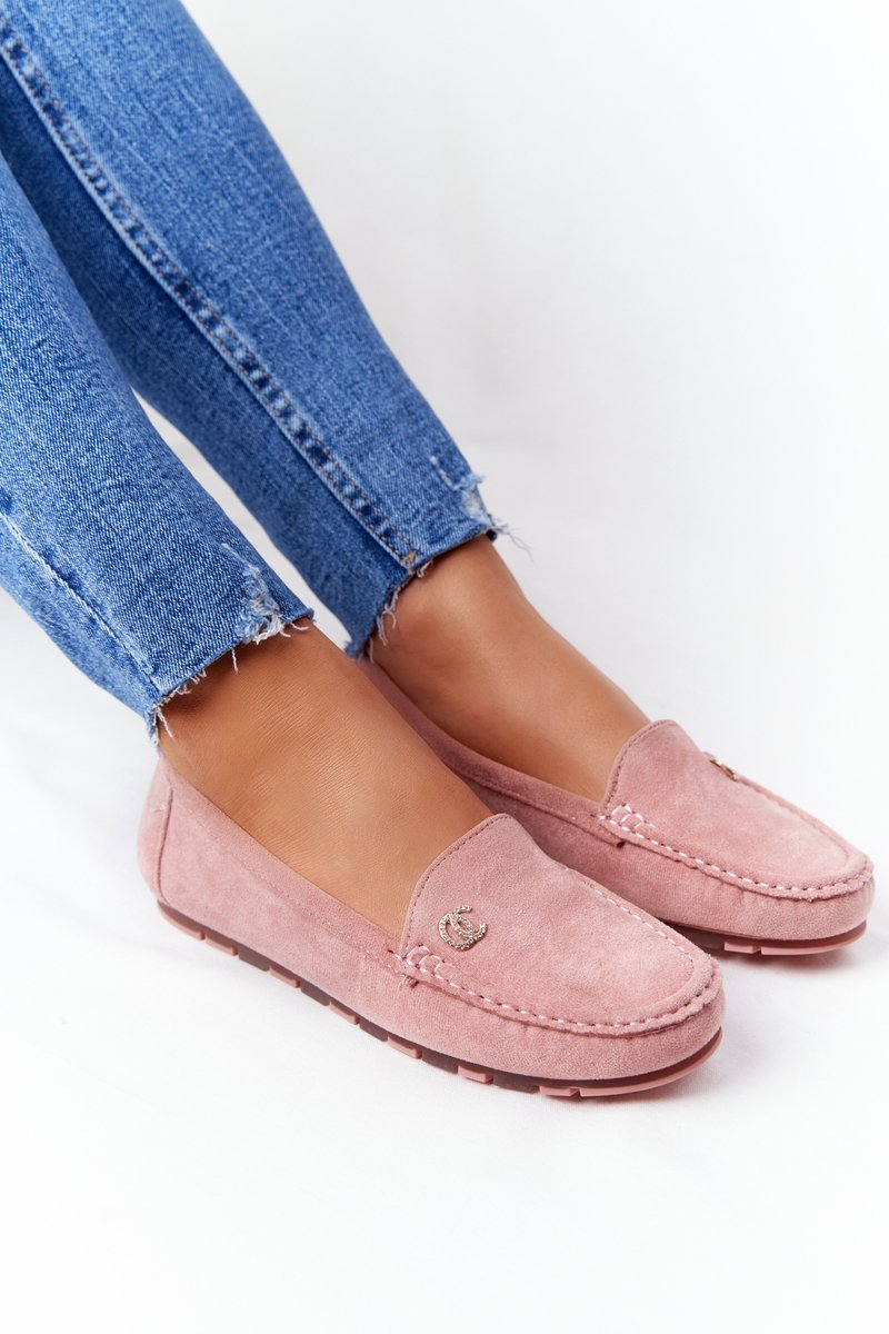 Women's Suede Loafers Pink Madelyn