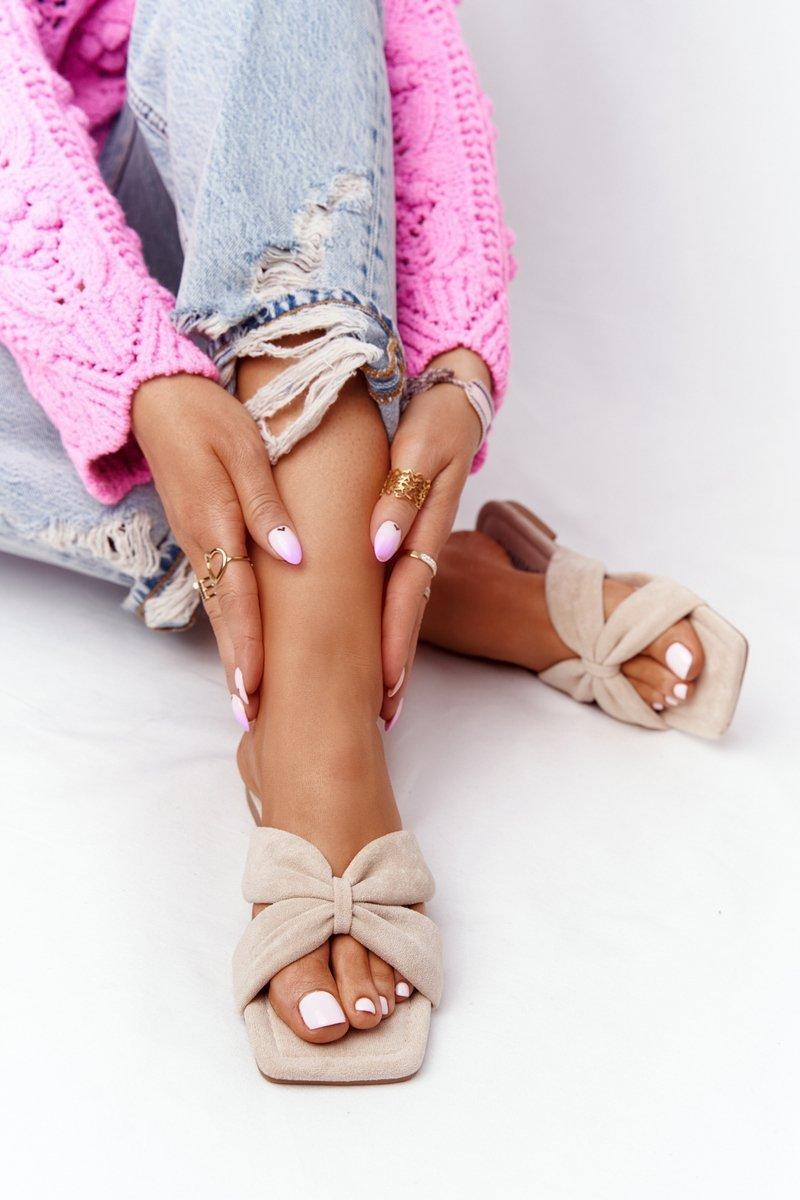 Women's Suede Slippers Beige Vanilla Sky