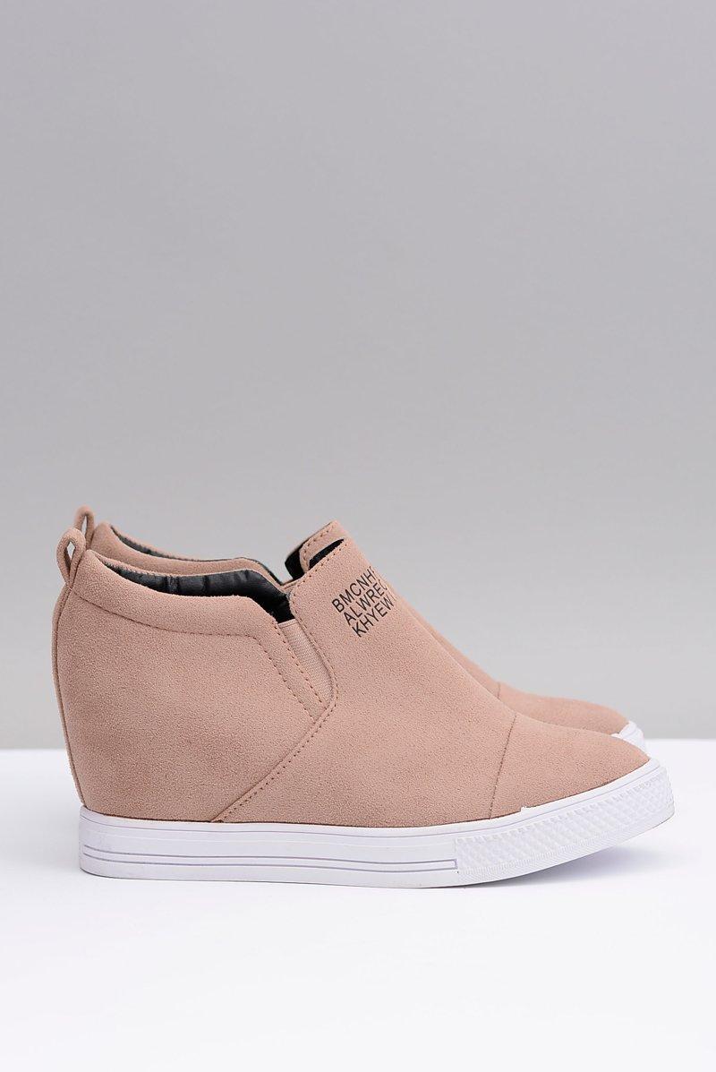 Women's Wedge Sneakers Lu Boo Beige Kaori