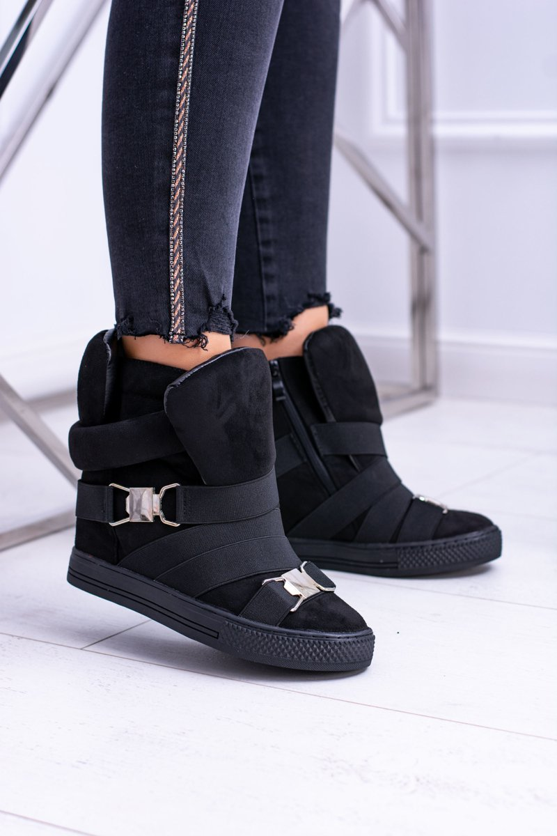 Women's Wedge Sneakers Lu Boo Black Pumpes