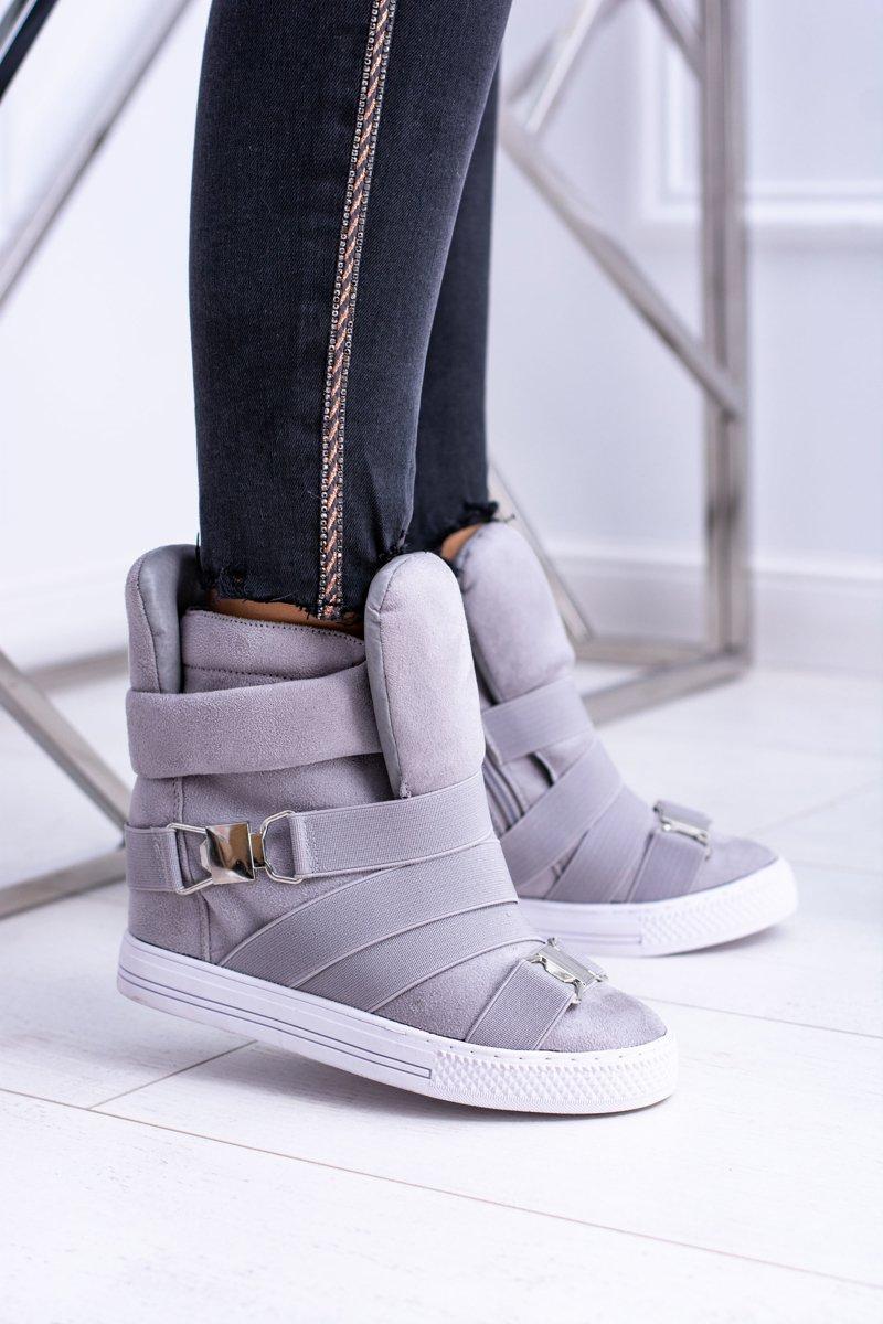 Women's Wedge Sneakers Lu Boo Grey Pumpes