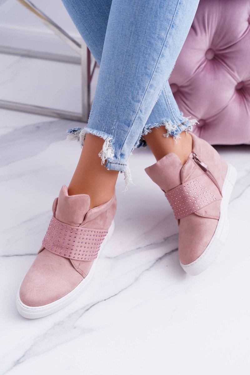 Women's Wedge Sneakers Lu Boo Sequins PinkSugar