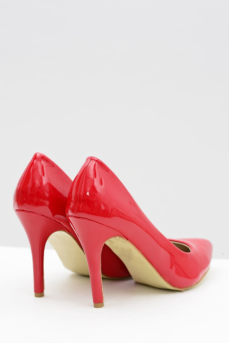 Women's stilettos Lacquered Red Esmeral