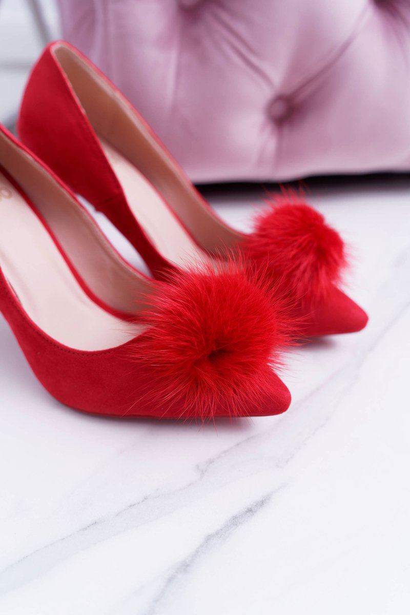 Women's stilettos Lu Boo Red Pompon