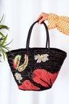 Braided Shopper Beach Bag NOBO XK0300 Black