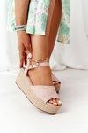 Braided Wedge Sandals Big Star FF274749 Nude