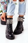Insulated Boots With Pearls Black Now Or Never