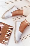Leather Espadrilles On A Braided Sole Big Star HH274506 White
