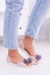 Lu Boo Rubber Ballerinas White Bows Candy