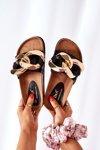 Slippers On The Cork Sole With Chain S.Barski SB002 Black