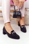 Suede High-Heeld Shoes Sergio Leone PB148 Black