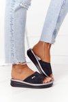 Wedge Slippers Sergio Leone SK042 Black