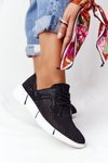 Women's Leather Sport Shoes Black Day Trip