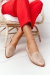 Women's Loafers Sergio Leone MK700 Suede Beige