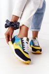 Women's Sneakers Memory Foam Big Star HH274525 Yellow-Blue